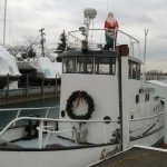 Sindbads Christmas Boat in the Detroit River