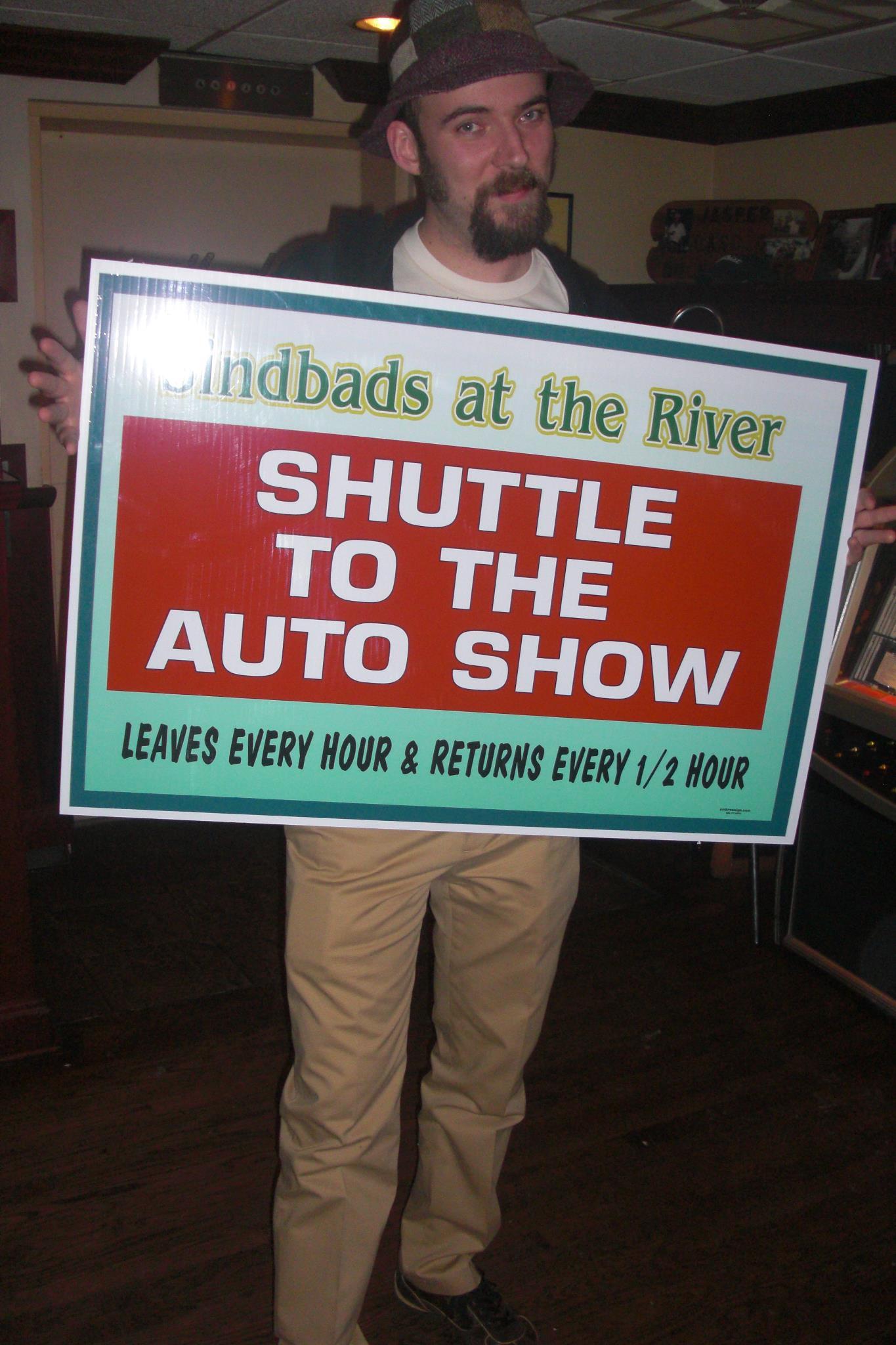 Sindbads Detroit Auto Show Shuttle Bus