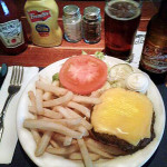 Sindbads Angus Burger Dinner