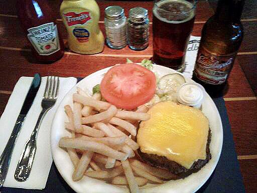 Sindbads Angus Burger Dinner